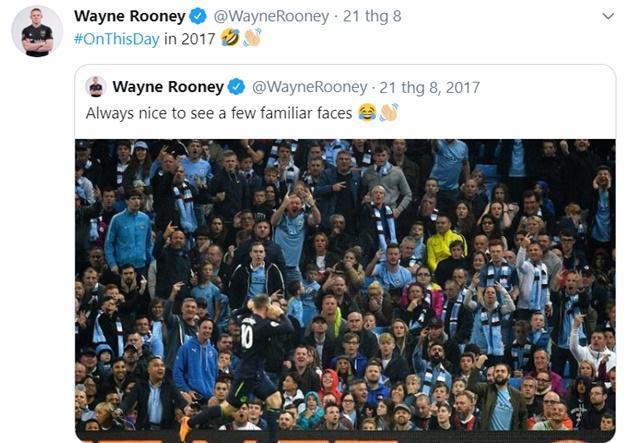 Rooney đăng twitter chọc tức Man City - Bóng Đá