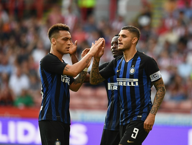 Wanda Icardi celebrates 'another year' at Inter as players and Wags party together for Lautaro Martinez's birthday - Bóng Đá