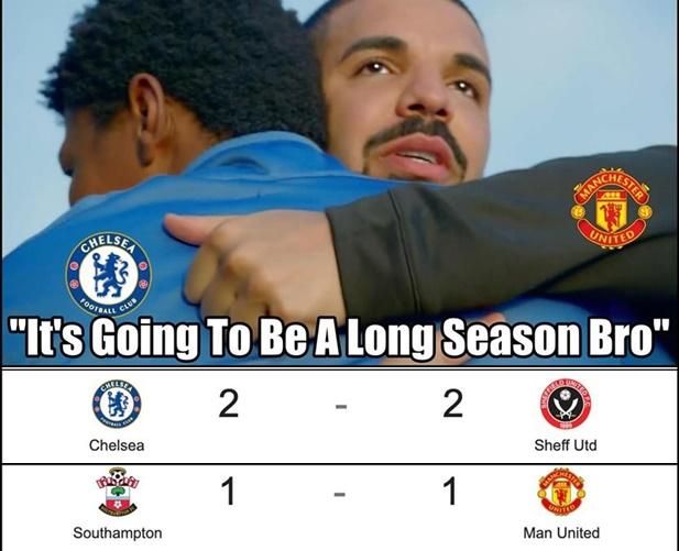 Ảnh chế Man Utd Chelsea hòa - Bóng Đá