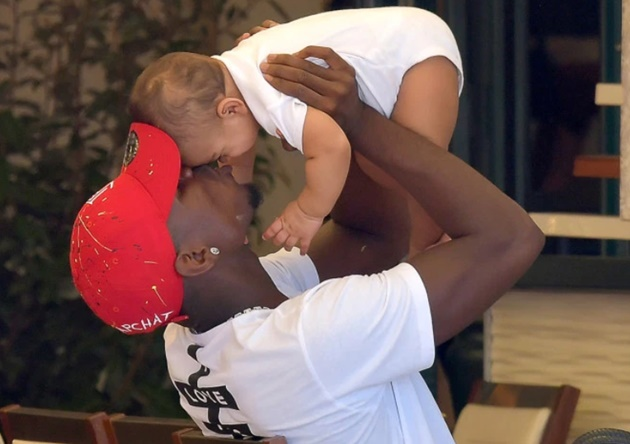 Paul Pogba joins girlfriend Maria Salaues and his baby boy for a sunny stroll in Saint Tropez - Bóng Đá
