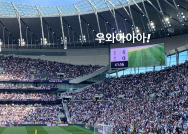 BLACKPINK Jisoo cheers for Son Heung Min in Tottenham's match - Bóng Đá