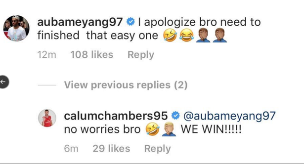 Arsenal ace Pierre-Emerick Aubameyang issues apology to Chambers after Eintracht win  - Bóng Đá