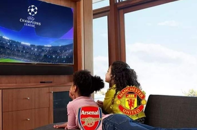 Như thường lệ, trong 2 ngày thứ 4 và thứ 5 mùa này, 2 đại gia Arsenal và Manchester United chỉ có thể theo dõi Champions League qua TV.