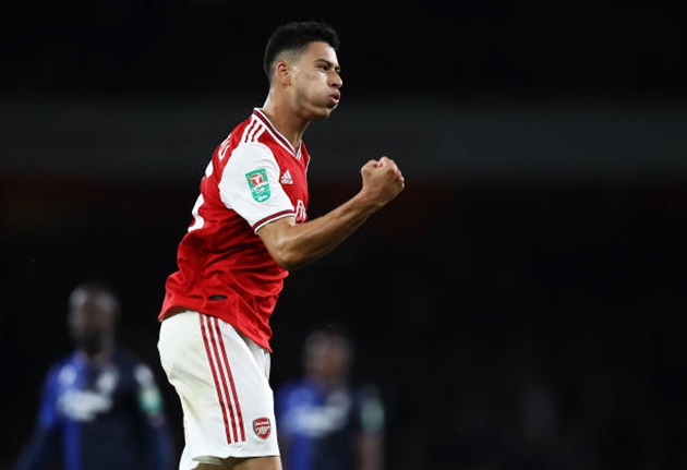 Gabriel Martinelli is the youngest player in Arsenal's history to score 2+ goals in a major European match - Bóng Đá