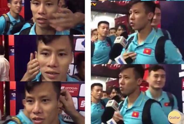 Đồng đội chọc ghẹo Quế Ngọc Hải khi phỏng vấn - Bóng Đá
