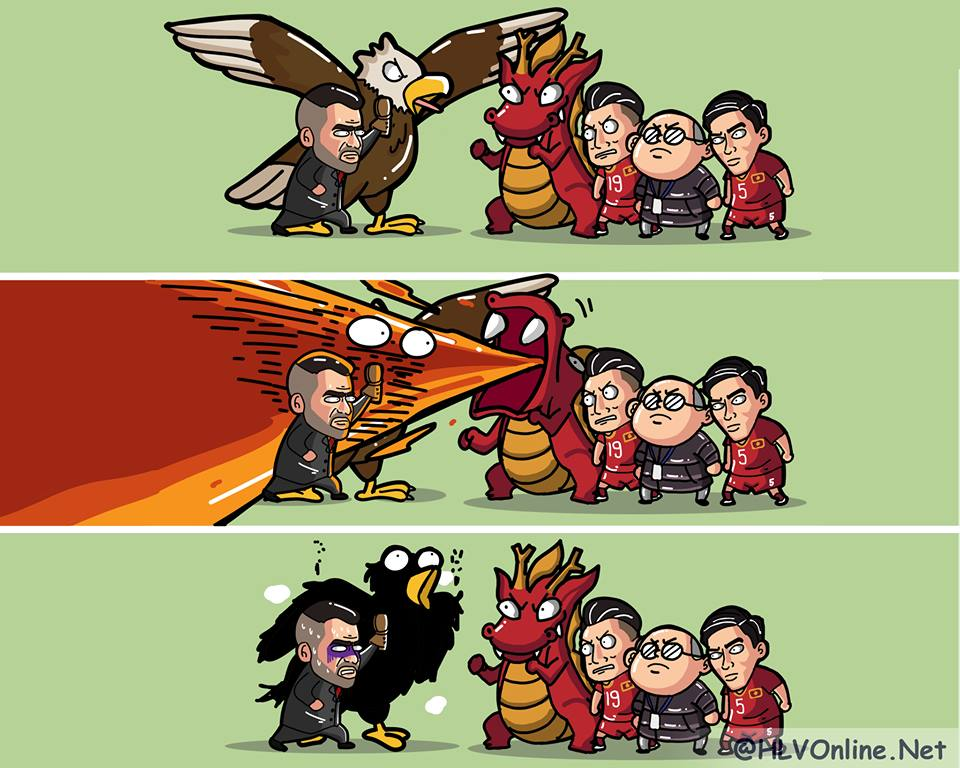 Meme kekalahan Timnas Indonesia. Sumber: http://www.bongda.com.vn