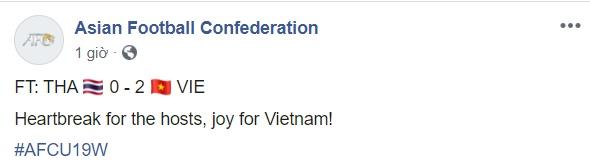 LĐBĐ Châu Á bình luận U19 VN thắng Thái - Bóng Đá