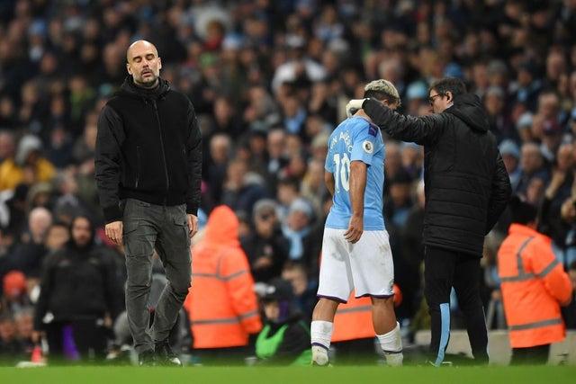 Pep Guardiola confirms Sergio Aguero injury blow for Man City amid Liverpool title battle - Bóng Đá