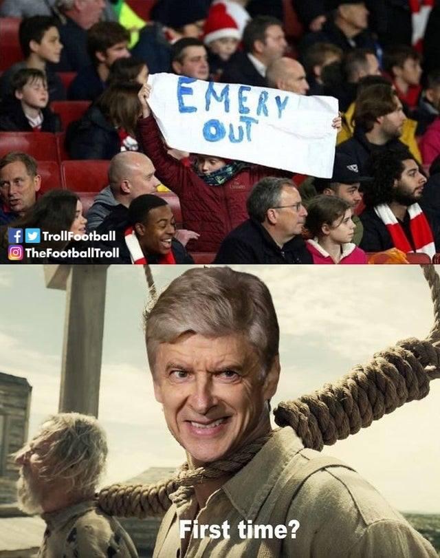 Ảnh chế Emery bị sa thải - Bóng Đá