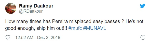 Manchester United fans criticise Andreas Pereira for his performance against Villa - Bóng Đá