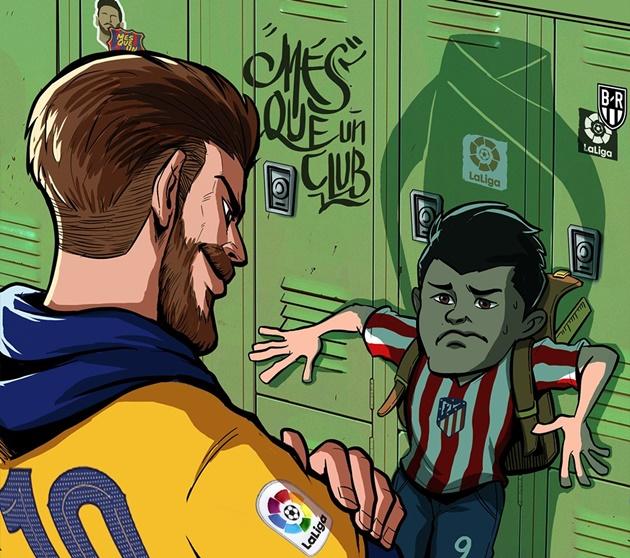 Ảnh chế Barca thắng Atletico - Bóng Đá