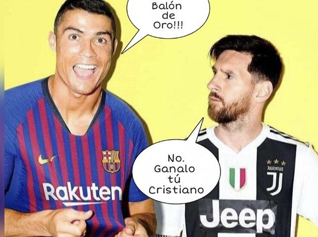 Ảnh chế Messi giành QBV - Bóng Đá