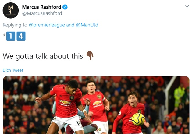 Marcus Rashford and his agent ask Premier League to count goal vs Aston Villa - Bóng Đá