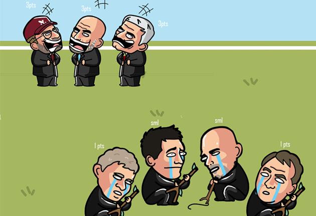 Ảnh chế vòng 17 Premier League - Bóng Đá