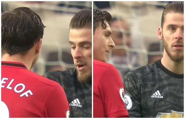 Phản ứng của De Gea với Lindelof sau bàn phản lưới - Bóng Đá