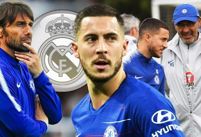 Hazard reveals why he was 'less happy' under Conte & Sarri at Chelsea - Bóng Đá