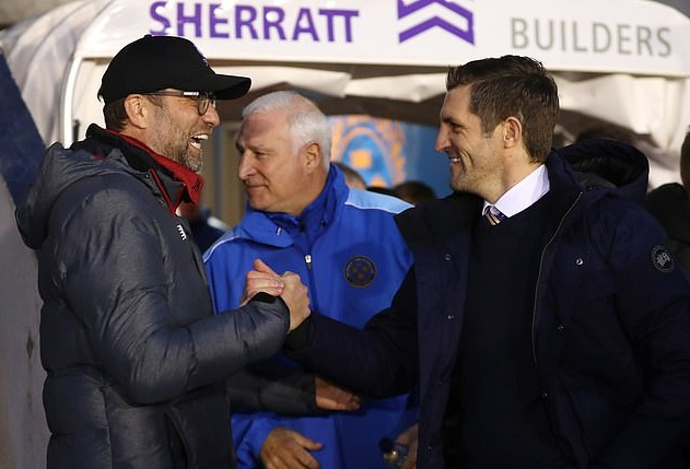 """""""You f***ers"""" Shrewsbury Town manager says. """"The game was there to be won and you just wanted to go to Anfield, didn't you?"""" - Bóng Đá"""