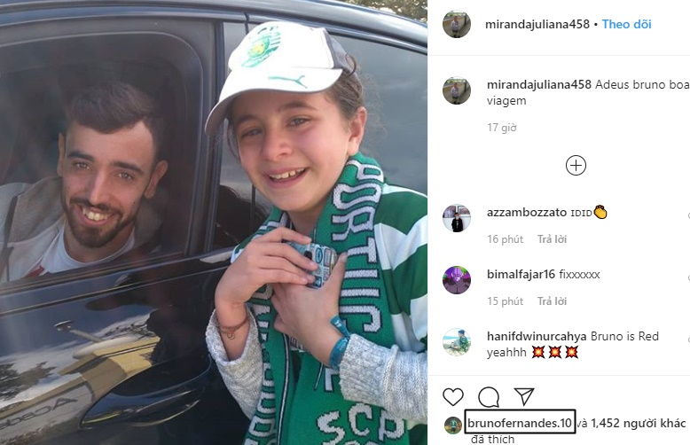 Bruno Fernandes says goodbye to Sporting Lisbon fan on Instagram ahead of Manchester United transfer - Bóng Đá