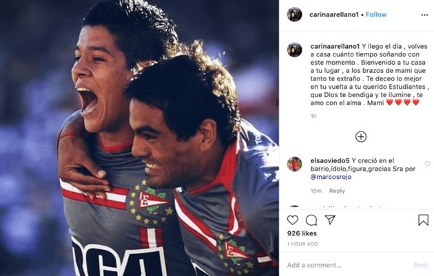 Marcos Rojo's mother confirms her son's return to Estudiantes - Bóng Đá