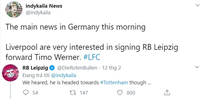 Tottenham mocked by RB Leipzig ahead of Champions League tie over Timo Werner transfer rumours - Bóng Đá