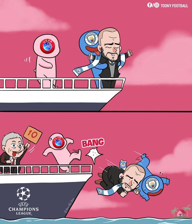 Ảnh chế UEFA phạt Man City - Bóng Đá