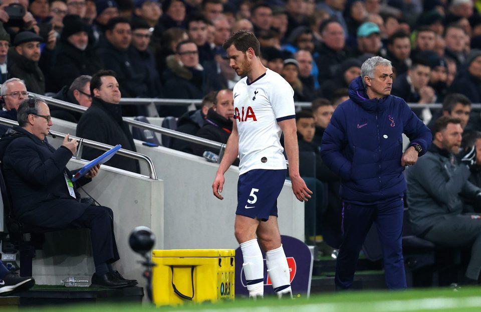 Jose Mourinho says he is happy that Vertonghen 'came out sad' - Bóng Đá