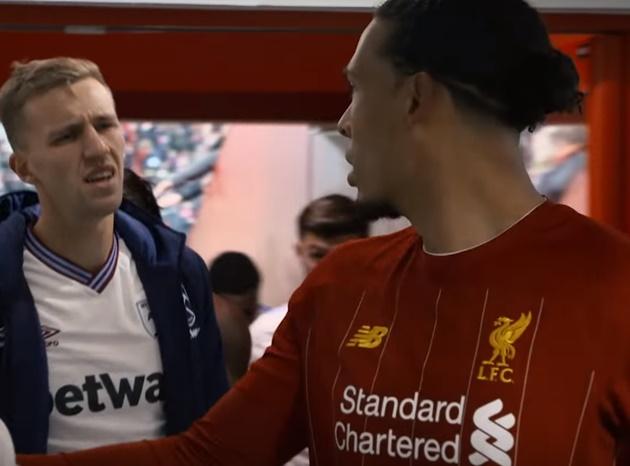 West Ham new-boy Tomas Soucek looks devastated after Virgil van Dijk snubs shirt swap  - Bóng Đá