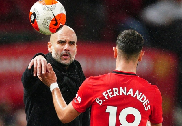 Bruno Fernandes on why he shushed Pep Guardiola in the Manchester derby - Bóng Đá