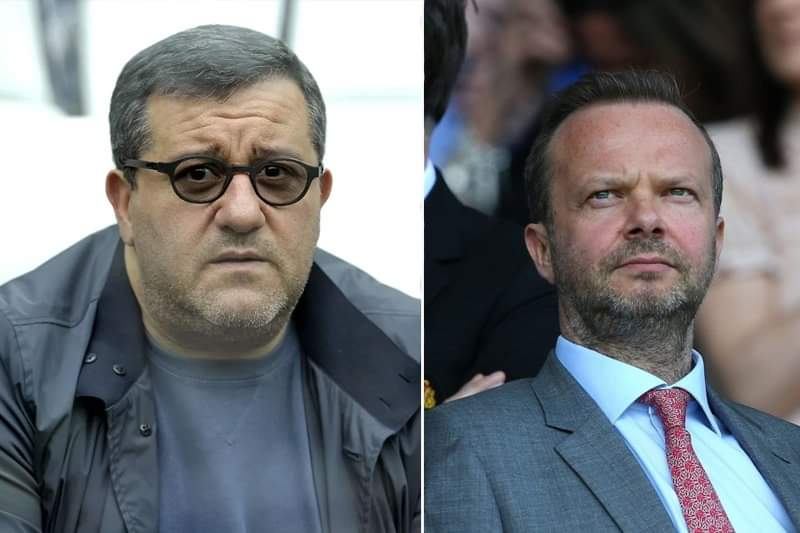 Ed Woodward 'makes peace offering to Mino Raiola' after Paul Pogba 'asked his agent to be less confrontational' after public war of words - Bóng Đá