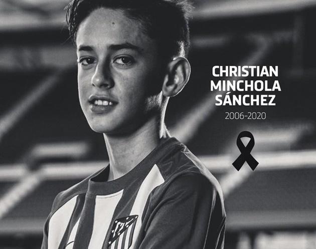 Atletico Madrid announces death of U14 player - Bóng Đá