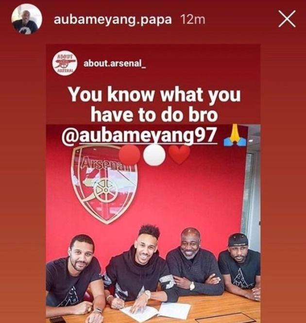 Pierre-Emerick Aubameyang's dad sends message to Arsenal striker after Chelsea transfer link    - Bóng Đá
