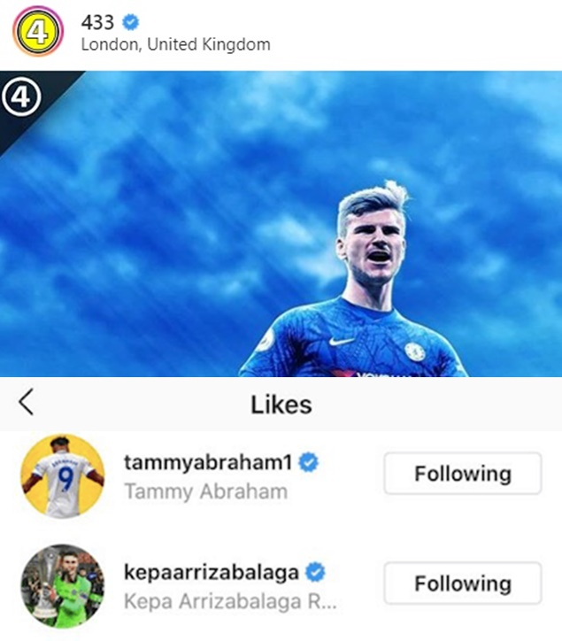 Tammy Abraham and Kepa Arrizabalaga react to rumours Chelsea have agreed deal for Timo Werner - Bóng Đá