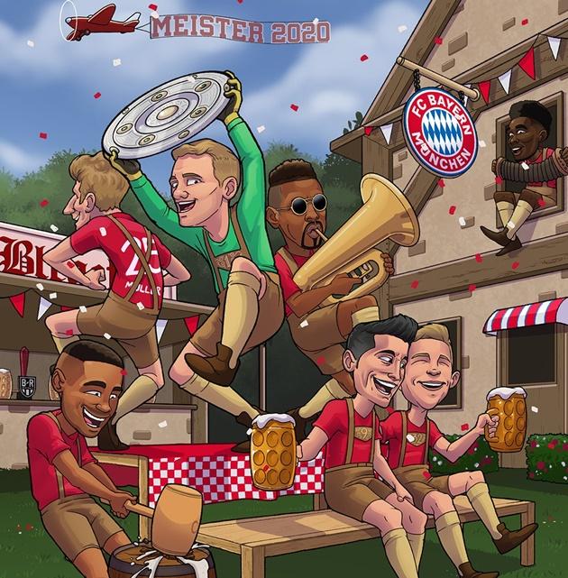Cười vỡ bụng với loạt ảnh chế Bayern vô địch Bundesliga
