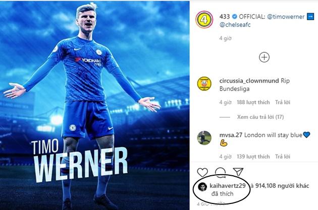 Chelsea fans sent into meltdown as Kai Havertz reacts to Timo Werner transfer    - Bóng Đá