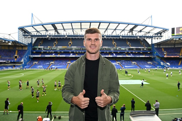 Timo Werner spotted at Stamford Bridge to watch new side Chelsea vs Wolves - Bóng Đá