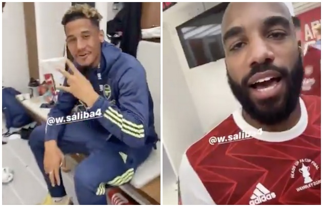 Pierre-Emerick Aubameyang tells off Alexandre Lacazette after Arsenal FA Cup win - Bóng Đá