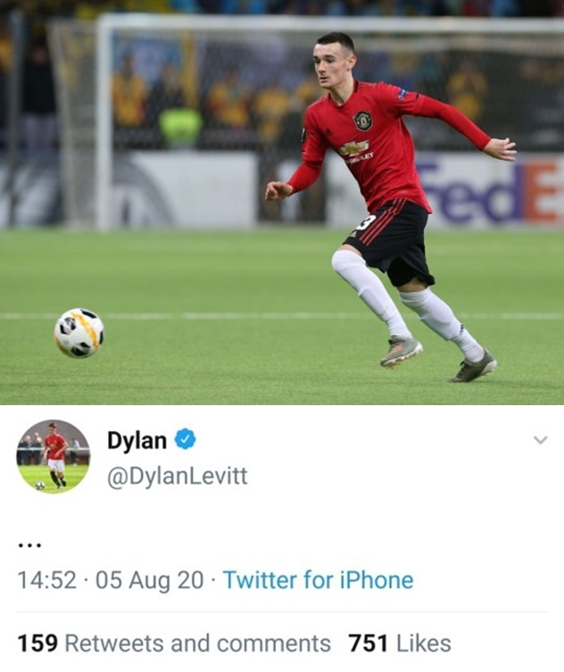 Dylan Levitt deletes tweet after being removed from Manchester United's Europa League squad   - Bóng Đá
