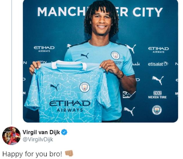 Liverpool star Virgil van Dijk reacts to Man City transfer - Bóng Đá