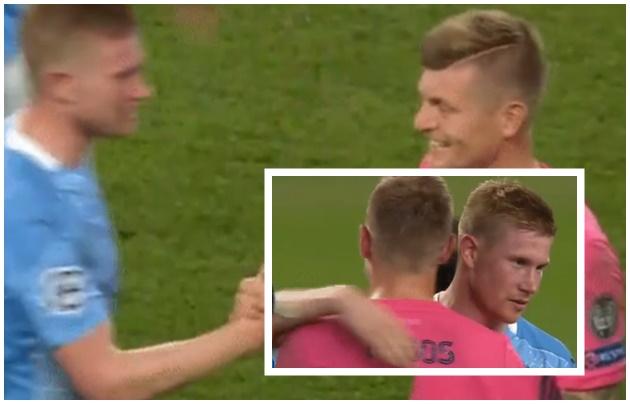 Man City fans notice what Toni Kroos did to Kevin De Bruyne after win vs Real Madrid - Bóng Đá