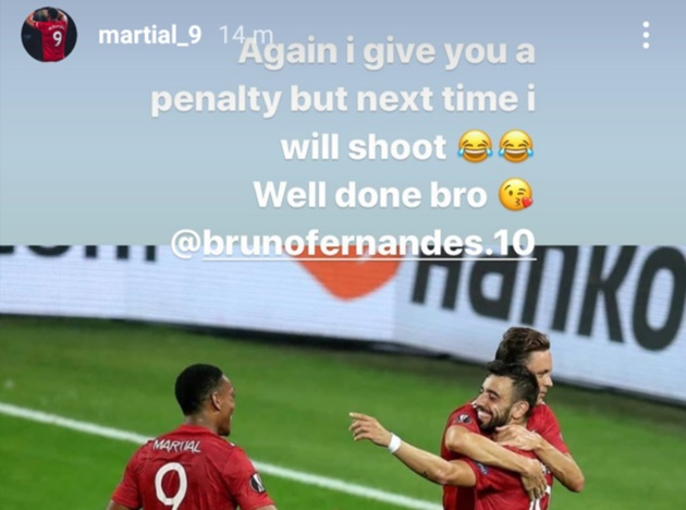 Anthony Martial sends message to Bruno Fernandes after Manchester United win - Bóng Đá