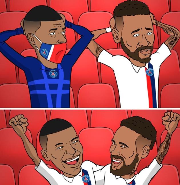 Ảnh chế PSG thắng Atalanta - Bóng Đá