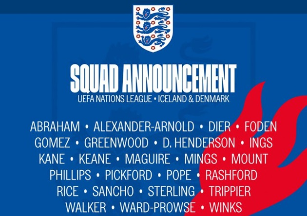 Harry Kane, Declan Rice in England squad as Gareth Southgate makes surprise Chelsea omission - Bóng Đá