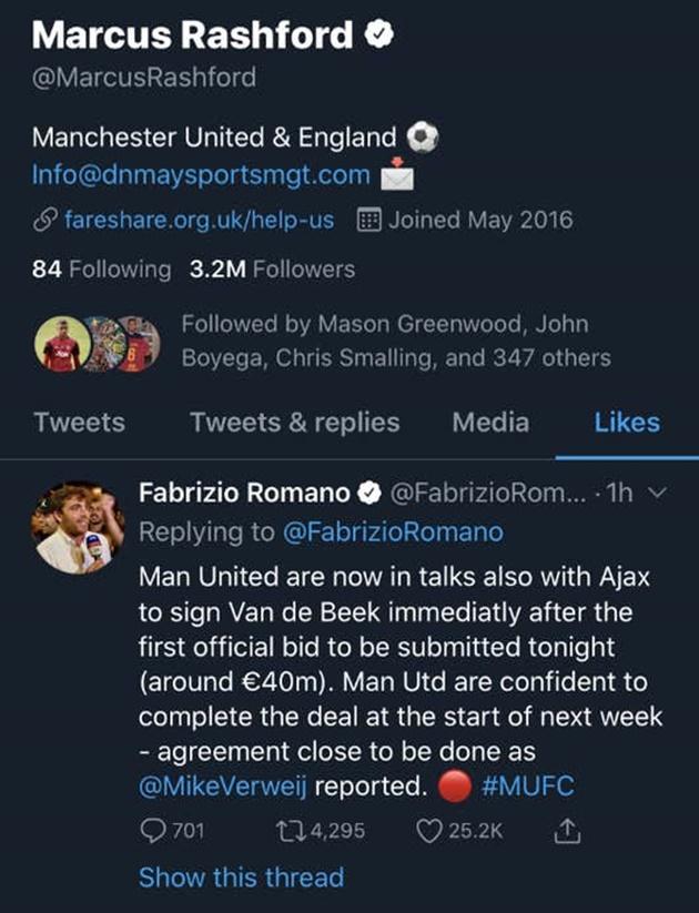 XONG! Rashford có động thái về tân binh đầu tiên của Man United
