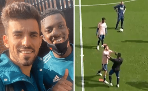 Dani Ceballos speaks out after clash with Arsenal teammate Eddie Nketiah during warm up  - Bóng Đá