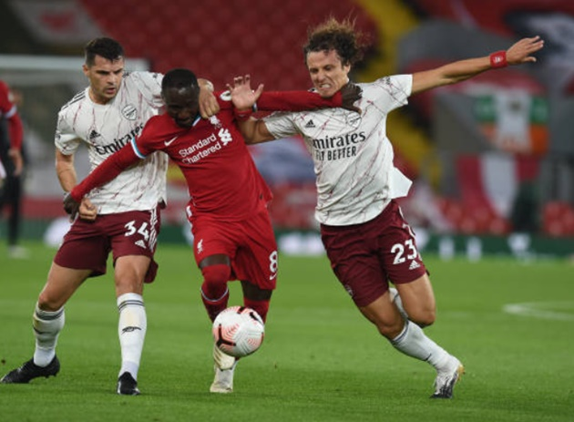 Granit Xhaka's livid reaction to Alexandre Lacazette's Anfield goal - Bóng Đá