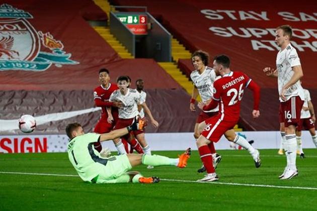 TRỰC TIẾP Liverpool 2-1 Arsenal (H1): Robertson lập công chuộc lỗi - Bóng Đá