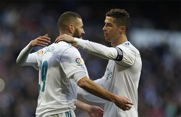 Real Madrid striker Karim Benzema admits he changed his style of play whilst playing alongside Cristiano Ronaldo - Bóng Đá