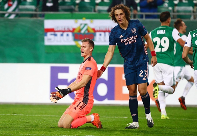 David Luiz rates Thomas Partey's full Arsenal debut and defends Bernd Leno after error in Rapid Vienna win  - Bóng Đá