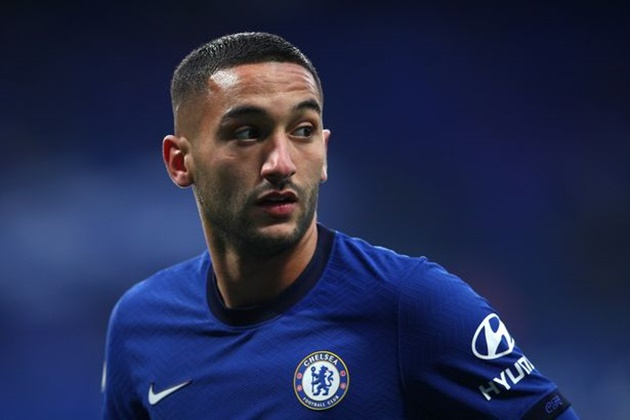 Frank Lampard admits Chelsea have encountered issue with Hakim Ziyech in training - Bóng Đá
