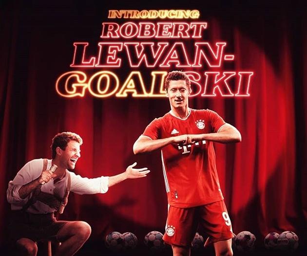 Đầu hiệp 2, Robert Lewandowski đưa Bayern vươn lên dẫn trước bằng cú đánh đầu đẳng cấp.